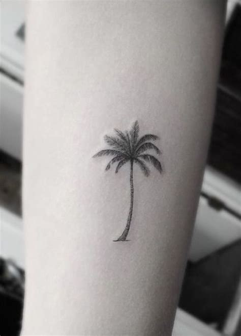small palm tree tattoos 108 small ideas and epic designs for small tattoos