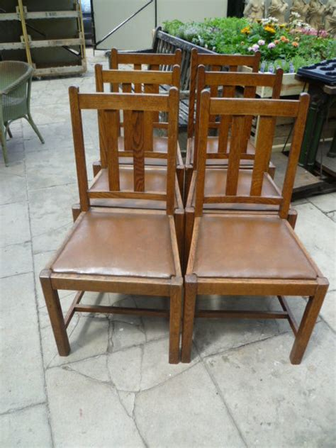 set of six antique oak dining chairs antiques atlas