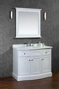 Montauk single 42 inch alpine white transitional bathroom vanity set