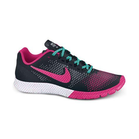 nike mesh sneakers nike free advantage mesh caf sneakers in pink black sport