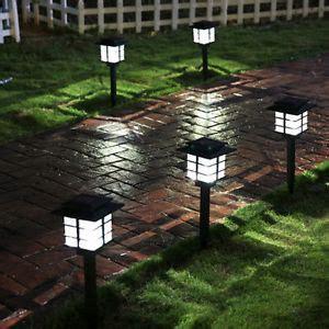 bright solar landscape lights 4 pcs outdoor bright white led solar power lawn landscape