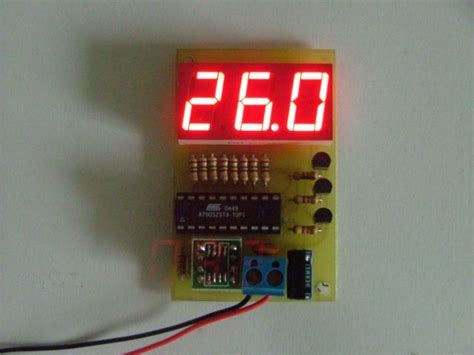 Termometer Untuk Ac termometer led digital dsp embedded electronics