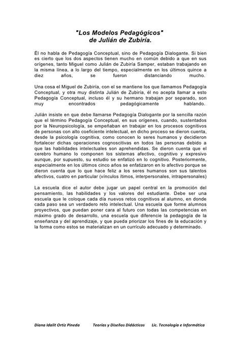 Diseño Curricular Por Competencias Julian De Zubiria Quot Los Modelos Pedag 243 Gicos Quot De Juli 225 N De Zubir 237 A