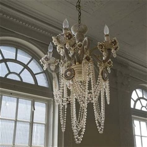 Diy Pearl Chandelier Shabby Chic Style Part 3 Lighting