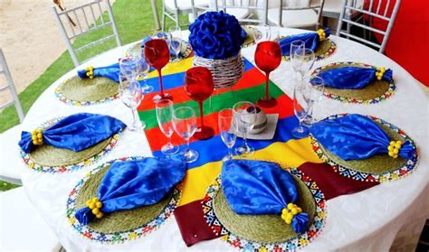 Ndebele traditional decor @shongaevents   ShongaEvents