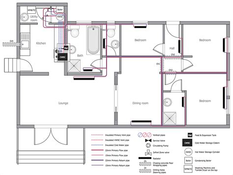 Residential Plumbing Layout by Creating A Residential Plumbing Plan Conceptdraw Helpdesk