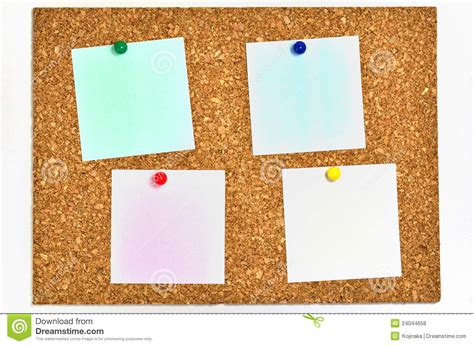 Resmi Note 4x cork board and blank notes stock photo image 24044658