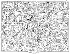 coloring posters if you color this in just right a few gaming logos might