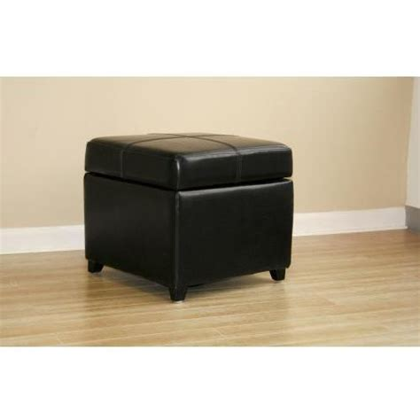 Black Square Storage Ottoman Shey Ottoman Black Leather Square Storage Ottoman 0380 J023 Shopperschoice