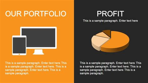 powerpoint portfolio template yellow portfolio powerpoint template slidemodel