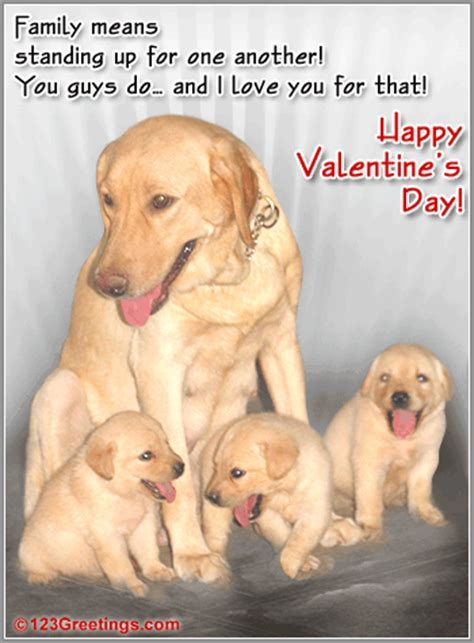 An Valentine's Ecard Wish For Family! Free Family eCards