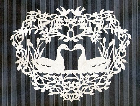 paper cutting craft patterns pak alaska swan scherenschnitte paper cutting