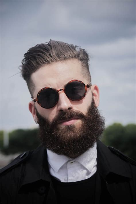 hairstyles for hipster glasses great hair beard with dapper round men s sunglasses