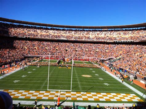 neyland stadium visitors section neyland stadium section l rateyourseats com
