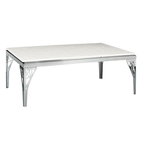 black marble coffee table with stainless steel legs