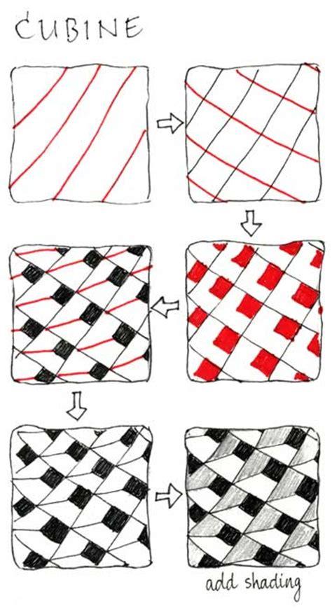 Zentangle Pattern Cubine | news from zentangle