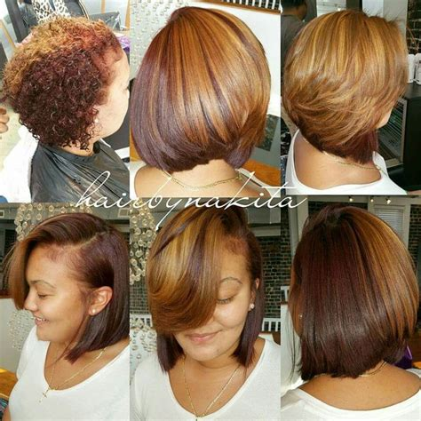 blow out hair styles for black women with hair jewerly 72 best bob hairstyles for black women images on pinterest
