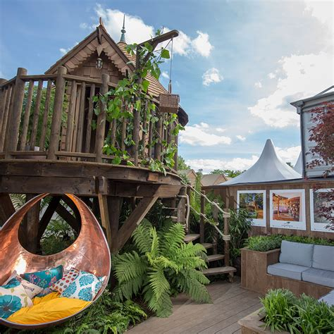 luxury tree house is now on show at the rhs chelsea flower