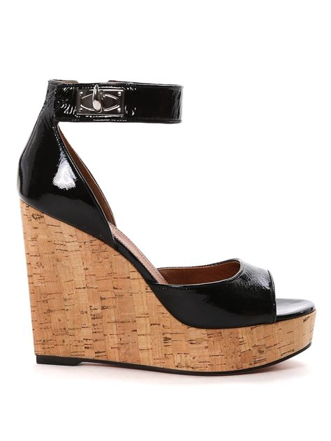 givenchy sandals patent leather wedge sandals by givenchy sandals ikrix