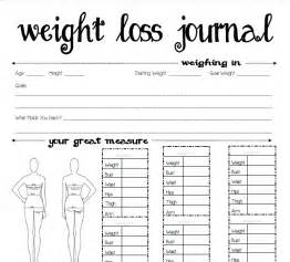 Weight Loss Journal Template 8 best images of printable weight journal templates