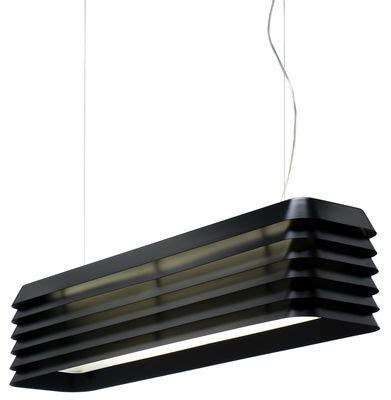 Luminaire Suspension 382 by Suspension Louvre Light Noir Anodis 233 Established Sons