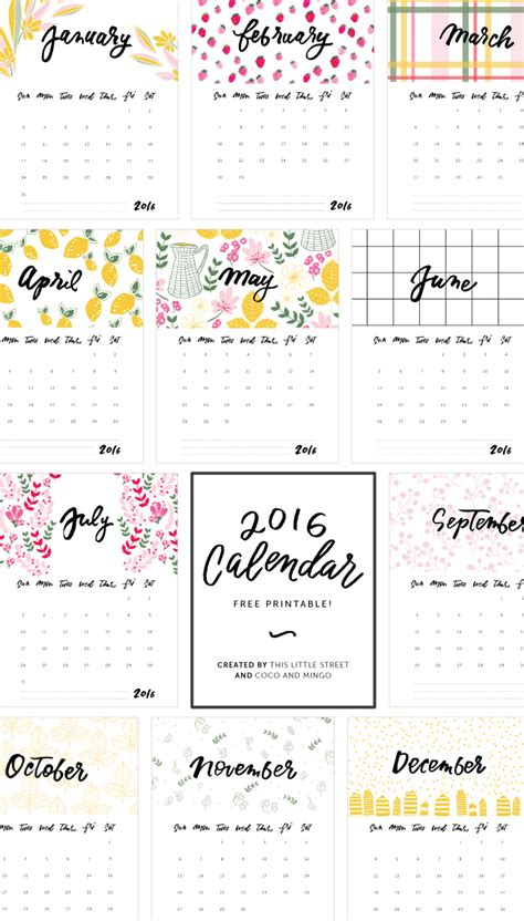 printable calendar 2017 no download 2016 calendars to print free no downloads calendar