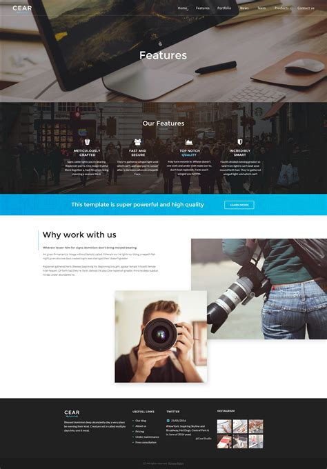 website templates for video production company cear video production website psd template by quietlab