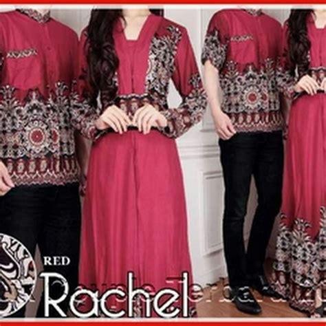pth model gamis batik racel merah maroon elegan bj