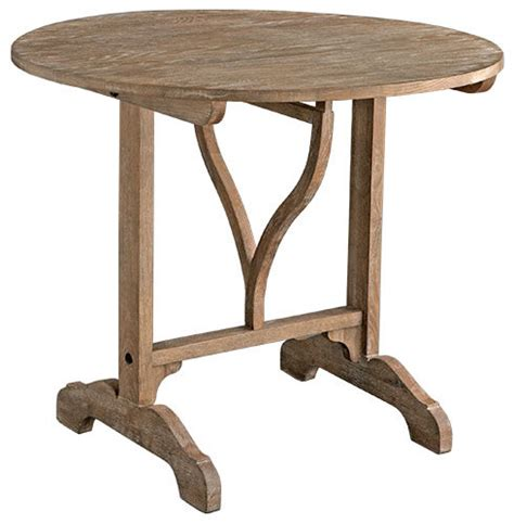 Oak Bistro Table Oak Wood Wine Tasting Table Traditional Indoor Pub And Bistro Tables By Wisteria