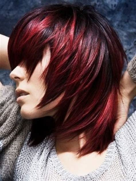 burgundy highlights on shag haircuts 25 thrilling ideas for red ombre hair