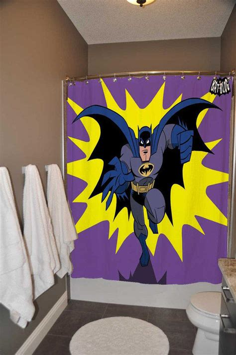 dc comics curtains batman old retro comic shower curtain from alazneshop on etsy