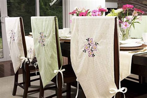 dining room chair back covers slipcovers for dining room chairs that embellish your usual dining chairs homesfeed
