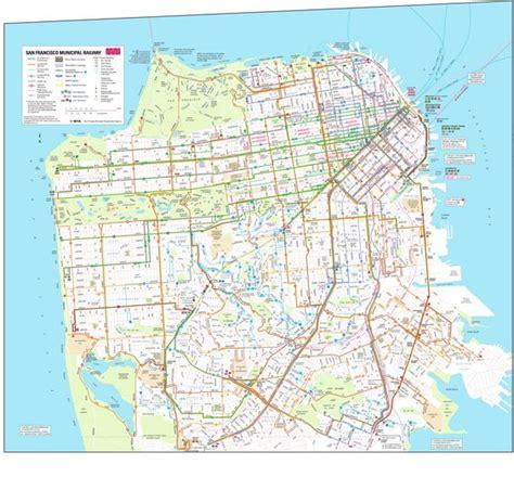 san francisco transportation map san francisco transit map honeymoon
