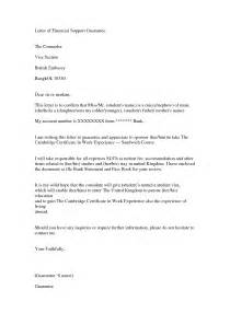 Letter Of Support For Visa Financial Support Letter Image Gallery Photonesta Letter Exle Letter Sle