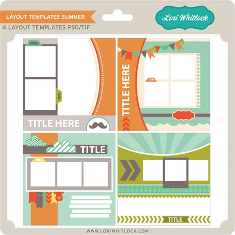 Layout Template New At Jessica Sprague Layout Template Sets