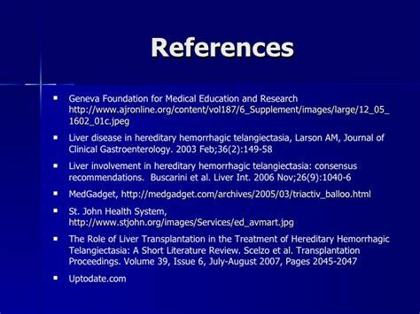 Rendu Osler Weber Report And Literature Review by Hereditary Hemorrhagic Telangiectasia Osler Weber Rendu