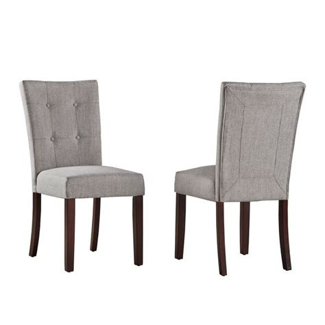 Tribecca Home Dining Chairs by Tribecca Home Hutton Upholstered Dining Chairs Set Of 2