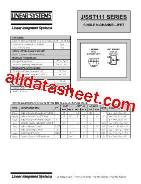 transistor j 111 equivalent j111 datasheet pdf linear integrated systems