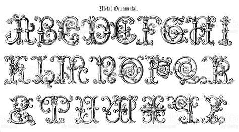 Endorsement Letter Dfa metal ornamental capital letters alphabet stock vector