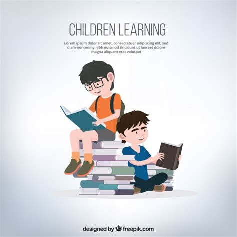 graphics design learning books background of boys reading books vector free download