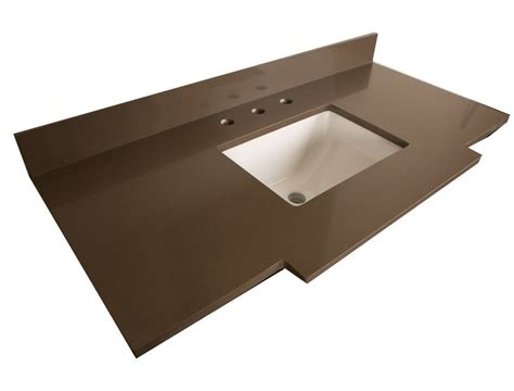bellaterra 45 inch w quartz vanity top in taupe with