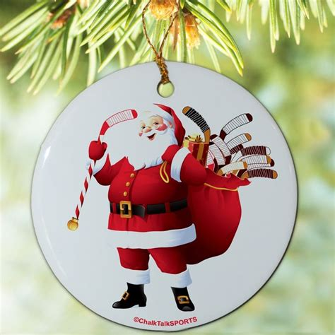 hockey christmas santa ornament hockey christmas