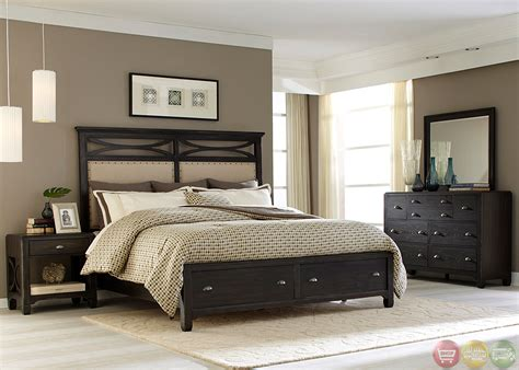 stone bedroom furniture town and country black stone storage bedroom set
