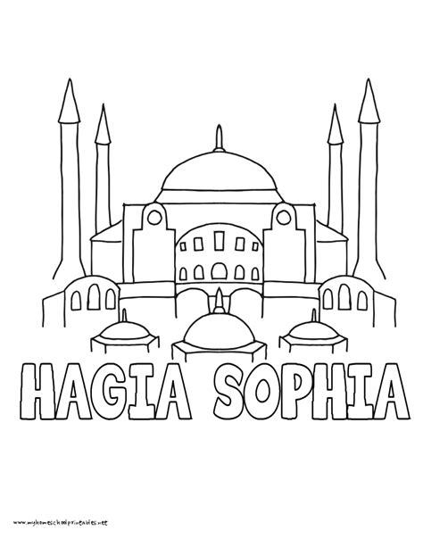 hagia sophia istanbul turkey coloring page coloring 2 hagia sophia coloring pages