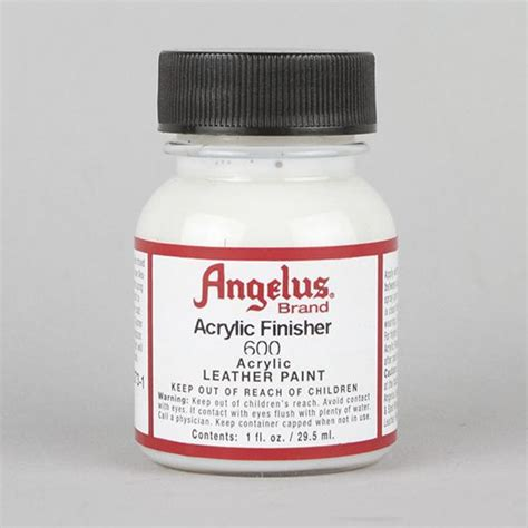angelus paint sealer angelus acrylic leather paint original gloss finisher 1oz