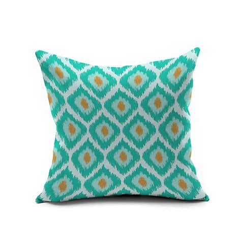 Turquoise Throw Pillow Covers by Nordic Turquoise Ikat Pillow Cover 18x18 20x20 Throw