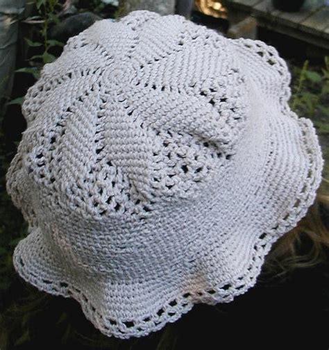 crochet pattern using cotton yarn cotton thread sun hat crochet pattern by sarah crittenden