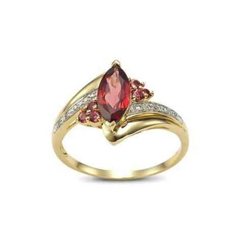 Cincin Gold cincin wanita bahan gold filled model garnet cz ring 7us