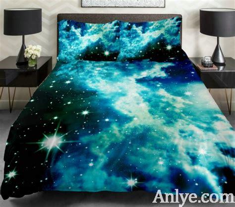space comforter set green galaxy bedding blue cloud space duvet cover popular