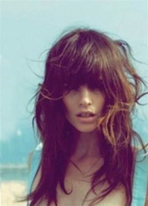 hairstyles with chunky bangs chunky bangs and layers locks of love pinterest